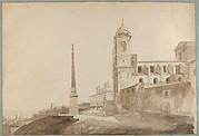 The Church of the Trinità dei Monti and the Villa Medici, Rome