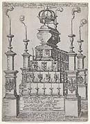 Catafalque of Philip II, King of Spain, in Antwerp Cathedral, December 8, 1598