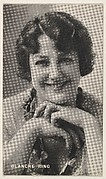 Blanche Ring, from the Black and White Movie Stars series (D1), issued by the E. H. Koester Baking Company