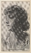 Constance Talmadge, from the Black and White Movie Stars series (D1), issued by the E. H. Koester Baking Company