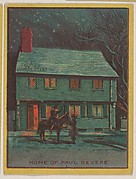 Home of Paul Revere, collector card from the Famous Buildings series (D30), issued by the Weber Baking Company