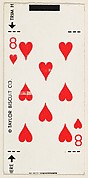 8 of Hearts, bakery card from the Playing Cards series (D98), issued by the Taylor Biscuit Company
