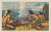 Osage, Smoke Signal, bakery card from the American Indian Tribes series (D39-1), issued by the Gordon Bread Company