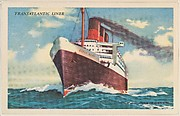 Transatlantic Liner, bakery card from the Speed Pictures series (D39-8), issued by Bell Bakeries, Inc.
