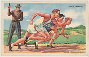 Man (Runner), bakery card from the Speed Pictures series (D39-8), issued by Bell Bakeries, Inc.