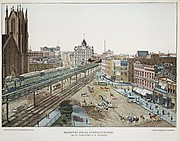 Broadway and 6th Avenue Junction. 33rd St. Elevated R.R. Station