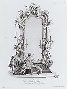 Trumeau de Glace, Orné avec les quatres parties de la Vie humaine