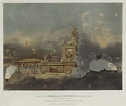 Peace of 1814 and Centennial of the House of Brunswick: A View of the Temple of Concord in Green Park, London, August 1, 1814