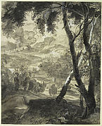 Landscape with Three Trees in the Foreground