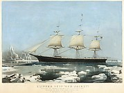 """Clipper Ship """"Red Jacket"""" – In the Ice off Cape Horn, on Her Passage from Australia, to Liverpool, August 1854"""