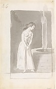 A Young Woman at a Well