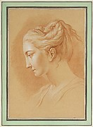Head of a Young Woman in Profile to Left