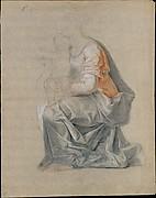Kneeling Female Figure Holding a Child