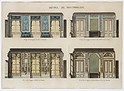 Longitudinal and Cross Sections of the Salons of the Hôtel de Montholon
