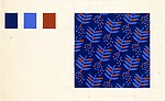Fabric Design, leaf and dot motif