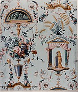 Floral Wallpaper with Classical Elements