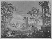 Heroic Landscape with Watering Place, Riders, and Obelisk