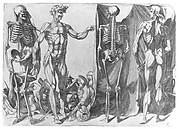 Two Flayed Men and Their Skeletons