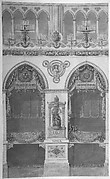 Interior Elevation with Statue of Louis II, Reims Cathedral