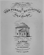 Frontispiece to Views of the Public Buildings in the City of New York (Rotunda, Corner of Chambers and Cross Streets)
