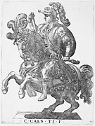 Emperor Gaius on Horseback, from the series The First Twelve Roman Caesars, plate 4