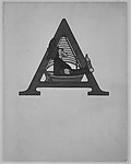 The Letter A with a Sailor in a Small Boat