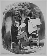 Ce que le bourgeois est convenu de nommer une...distraction, from Les Bons Bourgeois, published in Le Charivari, August 30, 1846