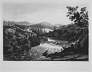Little Falls at Luzerne (The Hudson River Portfolio, plate 1)