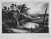View Near Jessups Landing (The Hudson River Portfolio, plate 3)