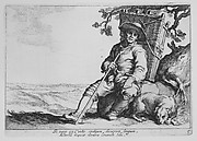Traveler with Dog, from the series Sixteen Peasant Subjects