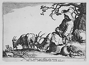 Pastoral with goat herd and goats, from the series Sixteen Peasant Subjects