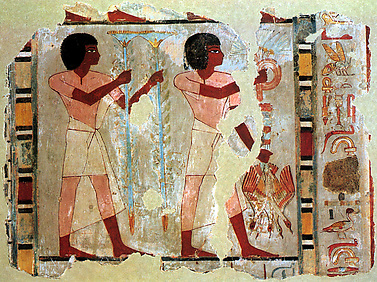 Fragment of wall painting from the Tomb of Sebekhotep