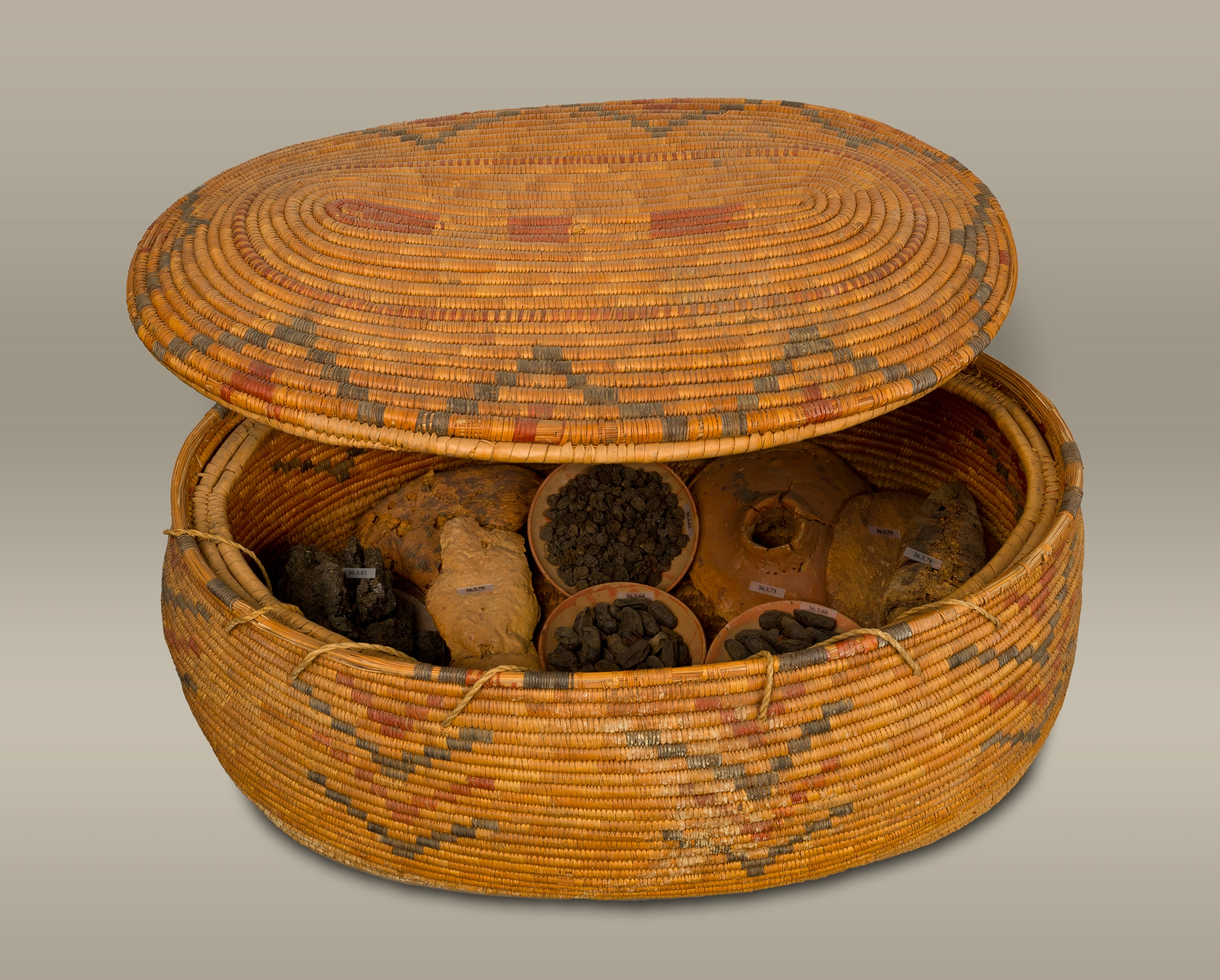 Large Storage Basket Filled With Various Types Of Food Meant