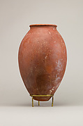Red polished ware jar