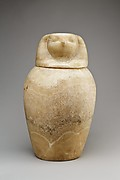 Canopic jar with a falcon-headed lid (Qebehsenuef)