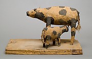 Model of a Cow and Her Calf
