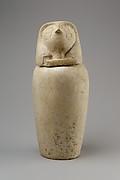 Canopic jar with falcon head (Qebehsenuef)