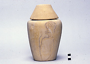Canopic jar with conical lid