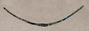 Necklace of striated beads