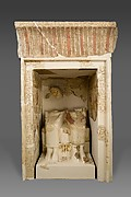 Shrine with statues of Amenemhat and his wife Neferu