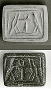 Stamp Seal Inscribed With An Ankh Between Two Hawks
