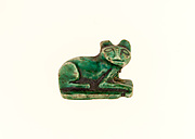 Cat Design Amulet Inscribed With the Cartouche of Aakheperkare (Thutmose I)