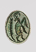 Scarab depicting a rearing ibex
