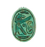 Scarab with Lion-headed Goddess Protecting Maatkare