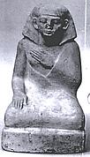 Statuette, squatting male
