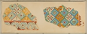 Two Fragments of Ceiling Patterns, Tomb of Senenmut
