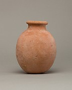 Globular necked jar of desert clay