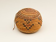 Small Round Lidded Basket