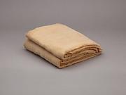 Sheet, inscribed, linen mark, medium fine spin, loose weave