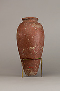 Large red polished ware jar